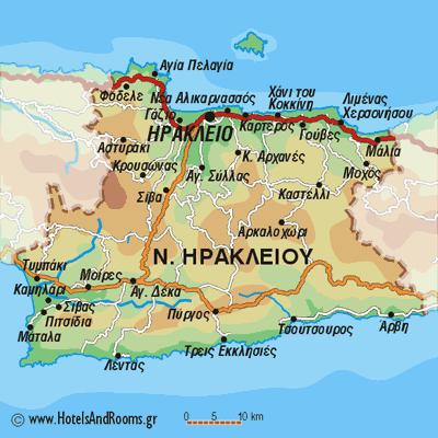 Χάρτης Ηρακλείου